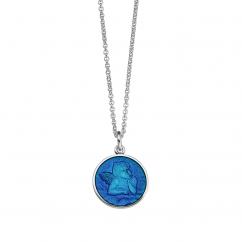 Guardian Angel Small Caribbean Blue Pendant