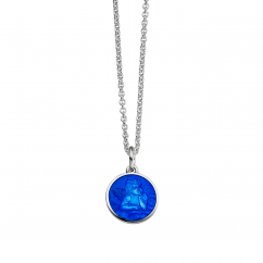 Guardian Angel Royal Blue Enamel Pendant