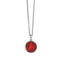 Guardian Angel Red Enamel Pendant
