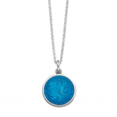 St. Christopher Caribbean Blue Enamel Medal
