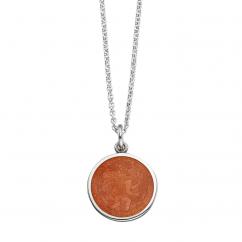 St. Christopher Tangerine Enamel Medal
