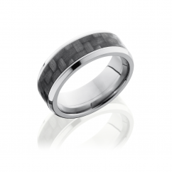 Titanium and Carbon Fiber 8mm Wedding Band