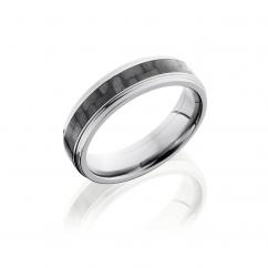 Titanium and Carbon Fiber 6mm Wedding Band