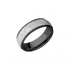 Cobalt and Meteorite 7mm Wedding Band