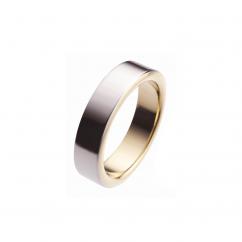 6mm 18k Gold and Platinum Wedding Band