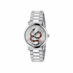 Gucci G-Timeless Stainless Steel Kingsnake Watch YA1264076