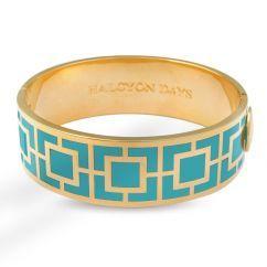 Halcyon Days Maya Turquoise and Gold Bangle